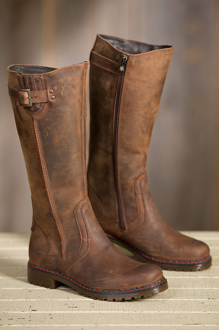 e88bfdd02420 Prepare for winter with our Women s Overland Debra Wool-Lined Leather Boots.  Free shipping returns.