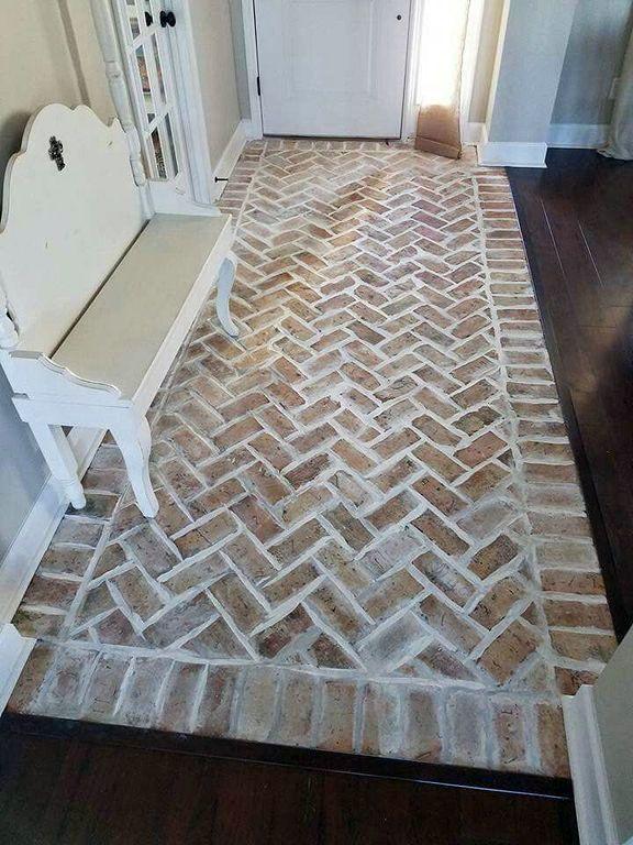 15 Bathrooms With Amazing Tile Flooring Brick Flooring Entryway Flooring Traditional Bathroom