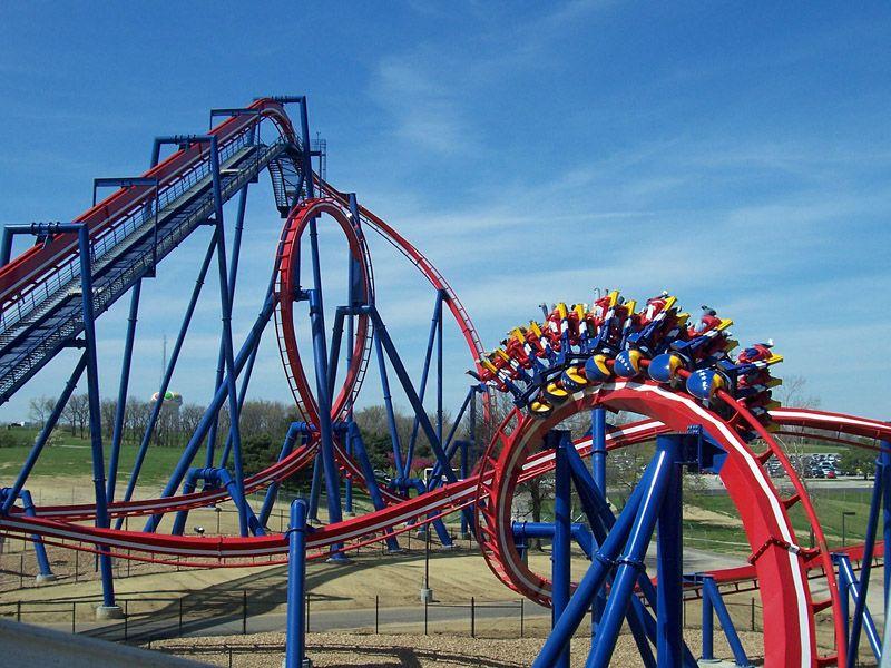 Patriot At Worlds Of Fun Kansas City Missouri Worlds Of Fun Water Park Rides Amusement Park Rides