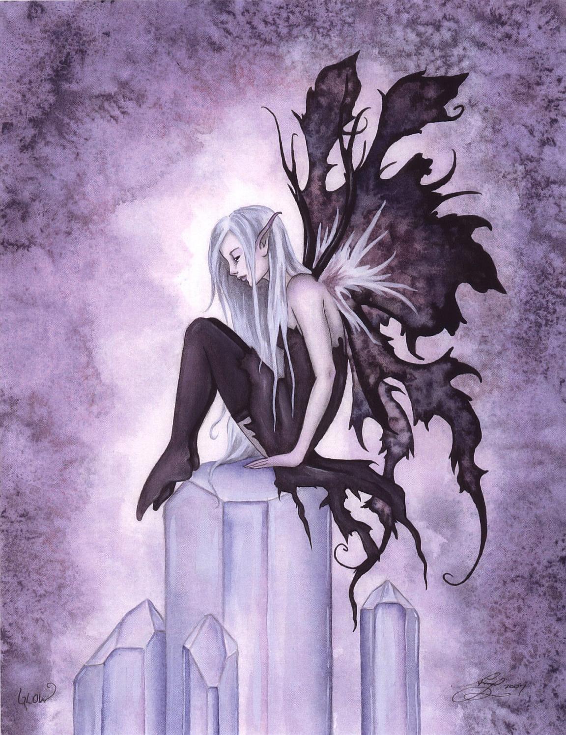 Amy Brown - Glow Of Print Dark Angels Fee Elfen
