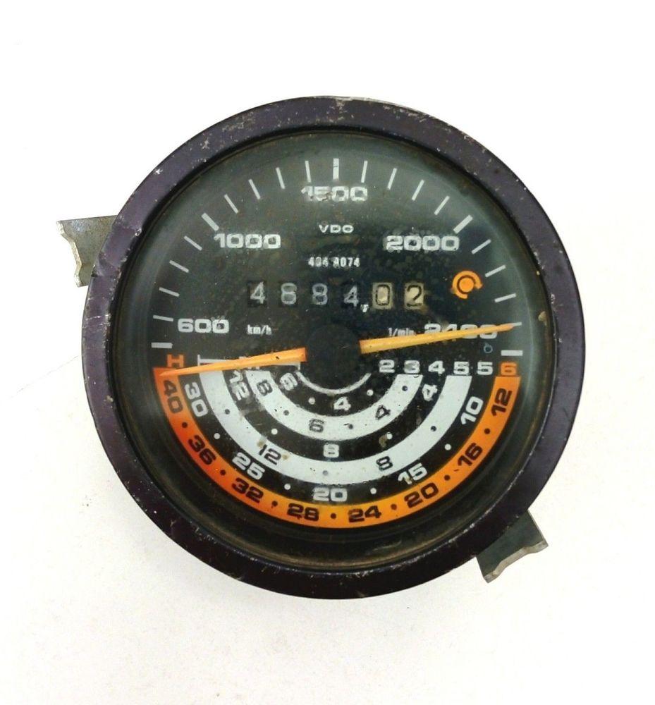 medium resolution of vdo instrument gauge tractor tachometer deutz fahr analog traktormeter 80 s used vdo