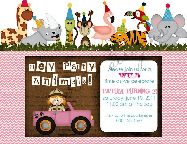 Wild animals birthday party invitation chalkboards pinterest items similar to zoo jungle safari themed party animals birthday invitation party animal party invite printable on etsy filmwisefo Images