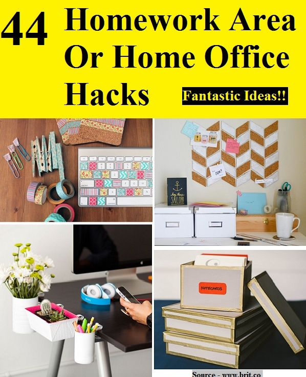 44 Homework Area Or Home Office Hacks...For More Creative