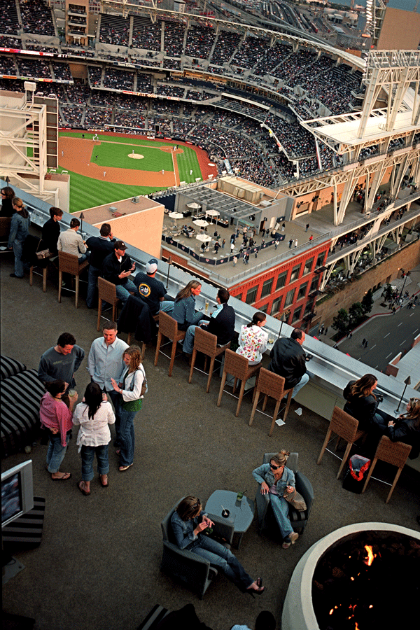 Check Out Altitude Lounge A Patio Bar 22 Stories Above The Petco Park Baseball Field The Open Air Lounge Atop T Baseball Season San Diego Downtown San Diego