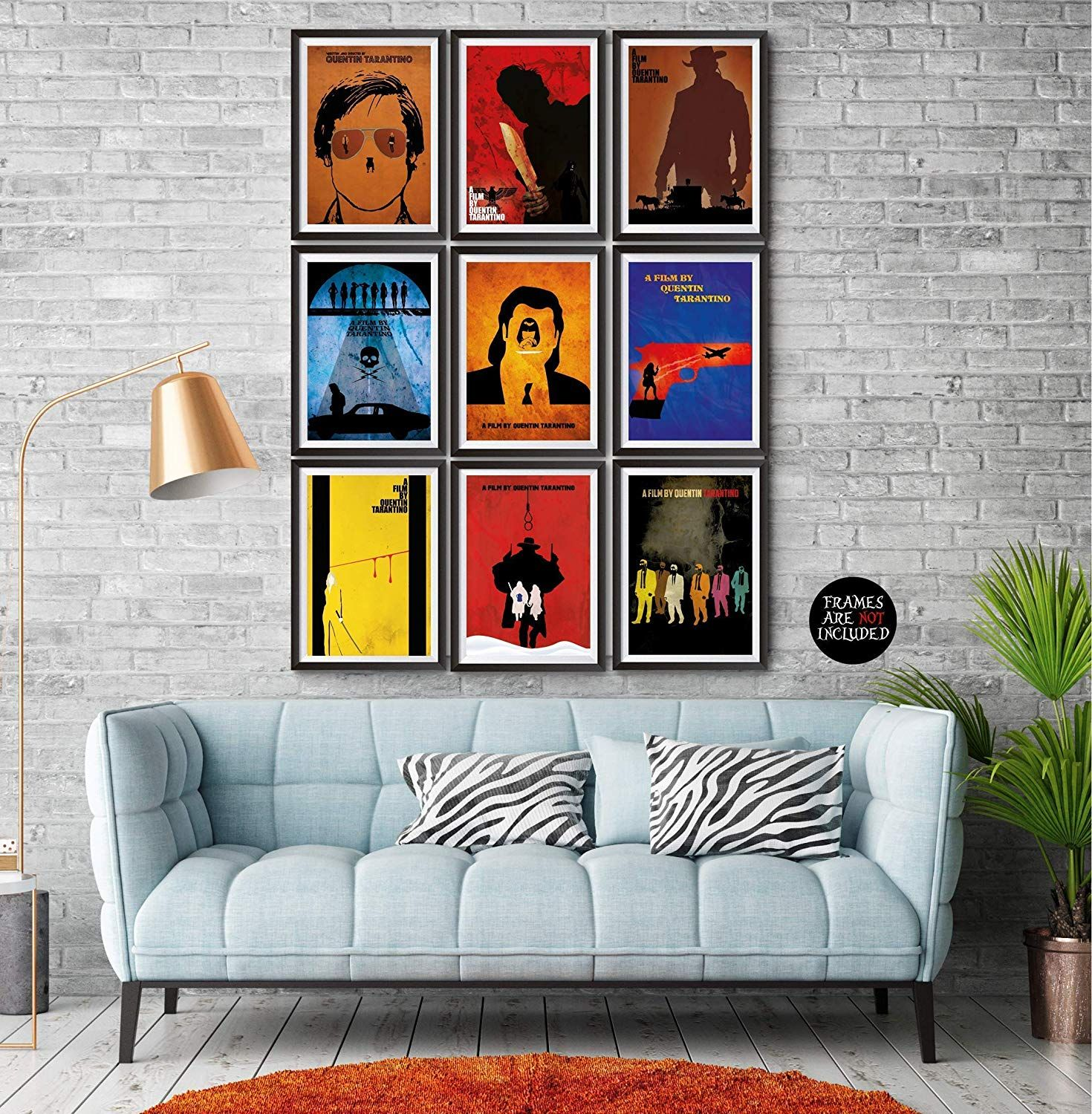 Quentin Tarantino Movies Minimalist Poster Set 9 Once Upon A Time In Hollywood The Hateful Eight In 2020 Minimalist Poster Quentin Tarantino Movies Love Wall Art