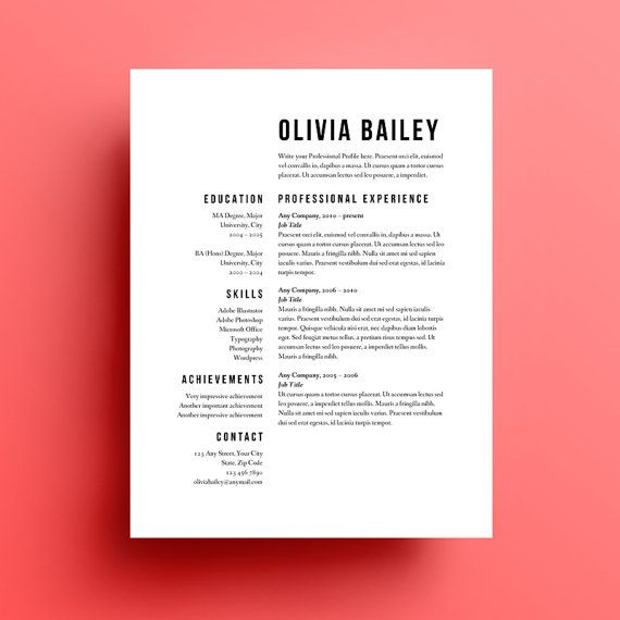 CV  comment faire simple et beau ? Resume   Cover Letter - Simple Format For Resume