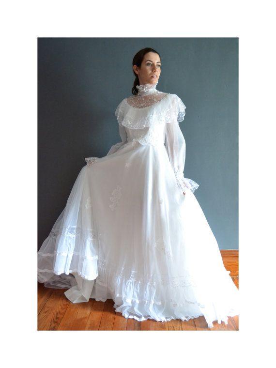 Blake 70s Wedding Dress 1970s By Breannefaouzi 348 00