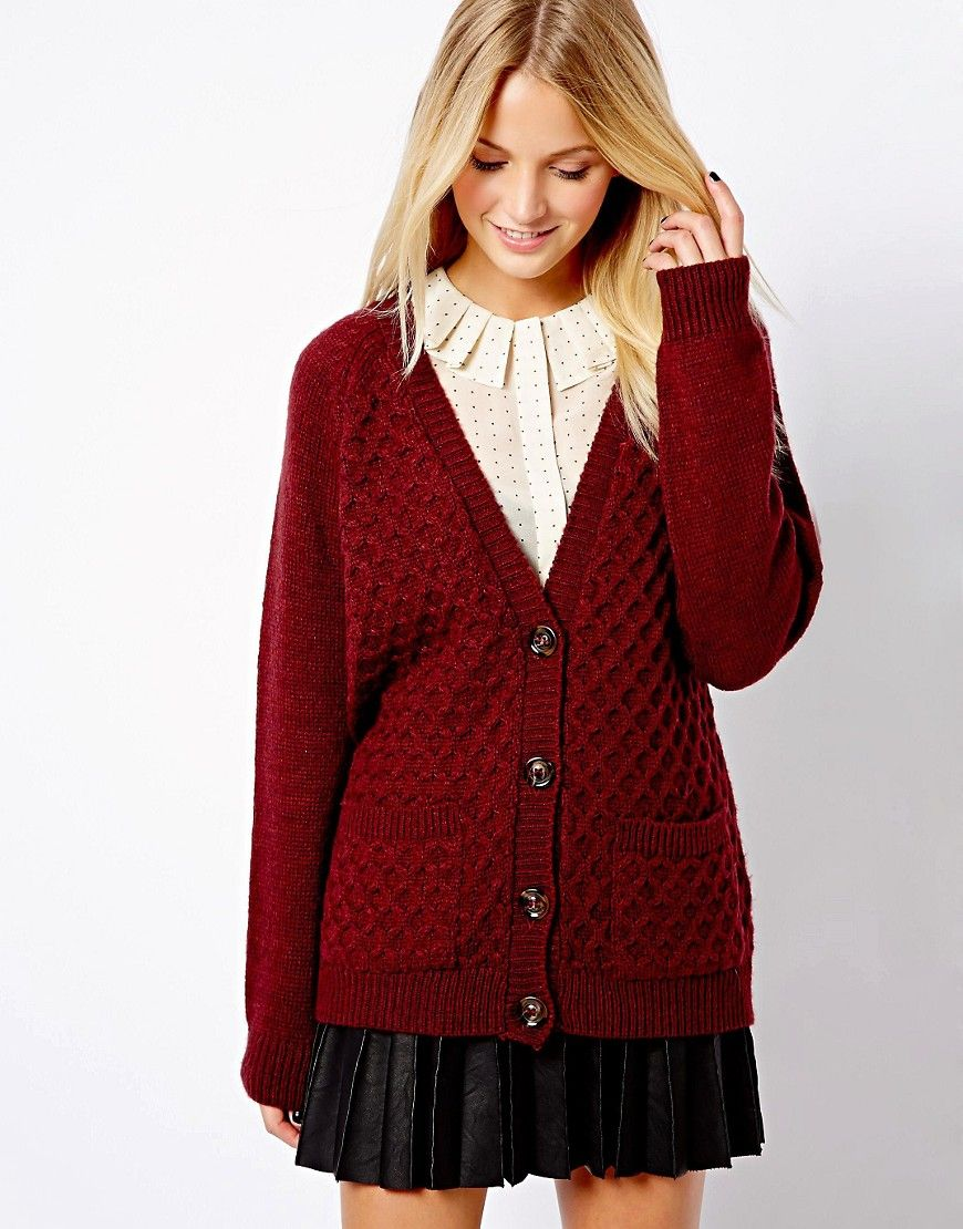 boyfriend sweater   New Look   New Look Boyfriend Cardigan at ASOS ...