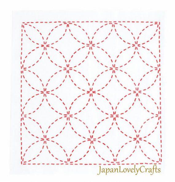 Japanese Sashiko Kit Beginner, Embroidery DIY Kit, Easy