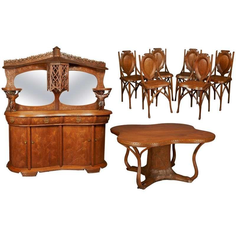 Art Nouveau Dining Suite For Sale At 1stdibs Dining Room Sets
