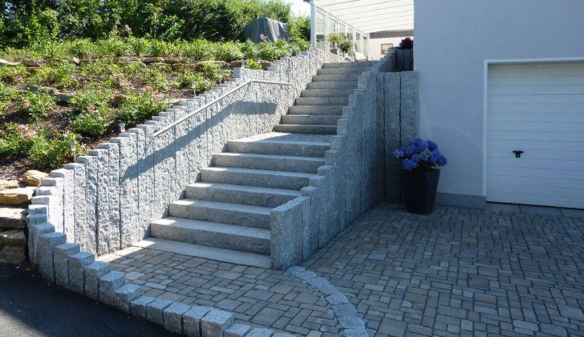 Granit Steinmauer | Garten - Mauer | Pinterest | Steinmauer ...