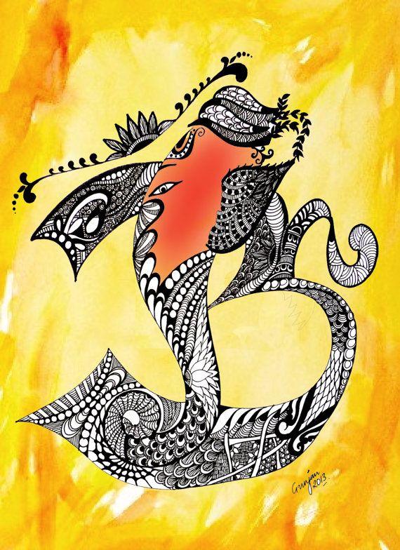 krishna zen doodle