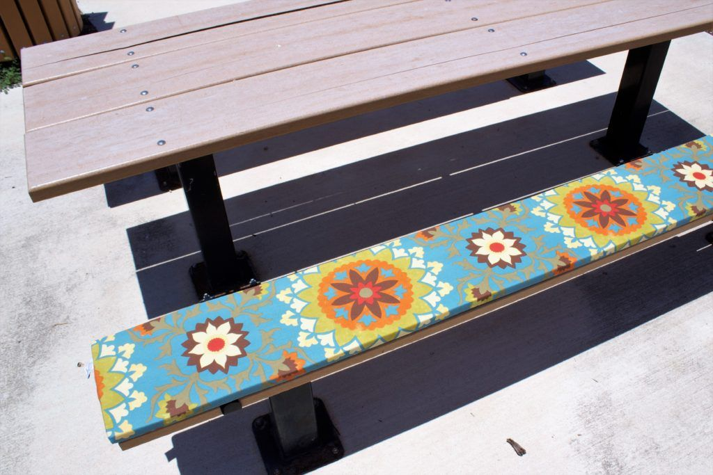 Ptc Outdoors Llc Picnic Table Cushions And Custom Bench Cushions Picnic Table Bench Custom Bench Cushion Bench Table