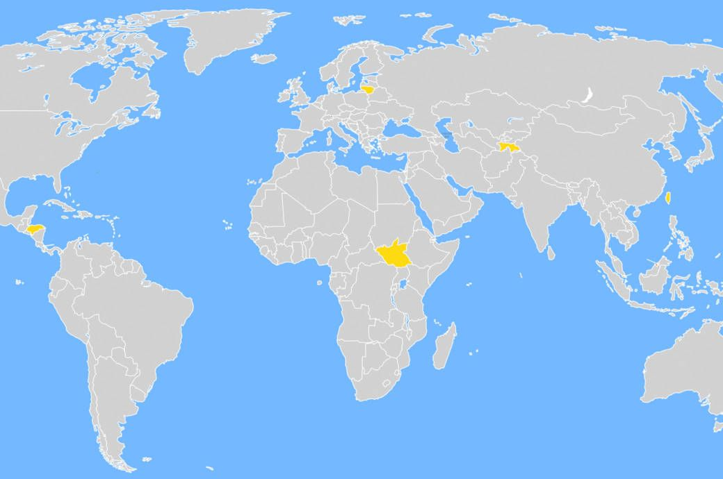 Wie viele dieser 13 farblich markierten Länder kannst du