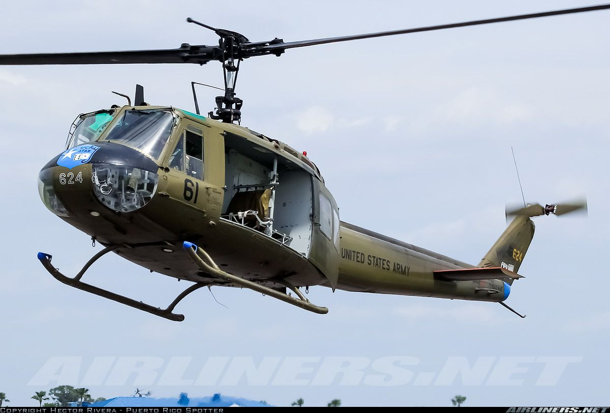 Bell UH-1H Iroquois (205) aircraft picture | Helicopteros, Aviones ...