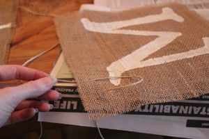 """Burlap Banner Tutorial - She uses """"Mr. & Mrs."""" but I would use it to make a Thank you Banner.  Although it looks easy enough I could make multiple..."""
