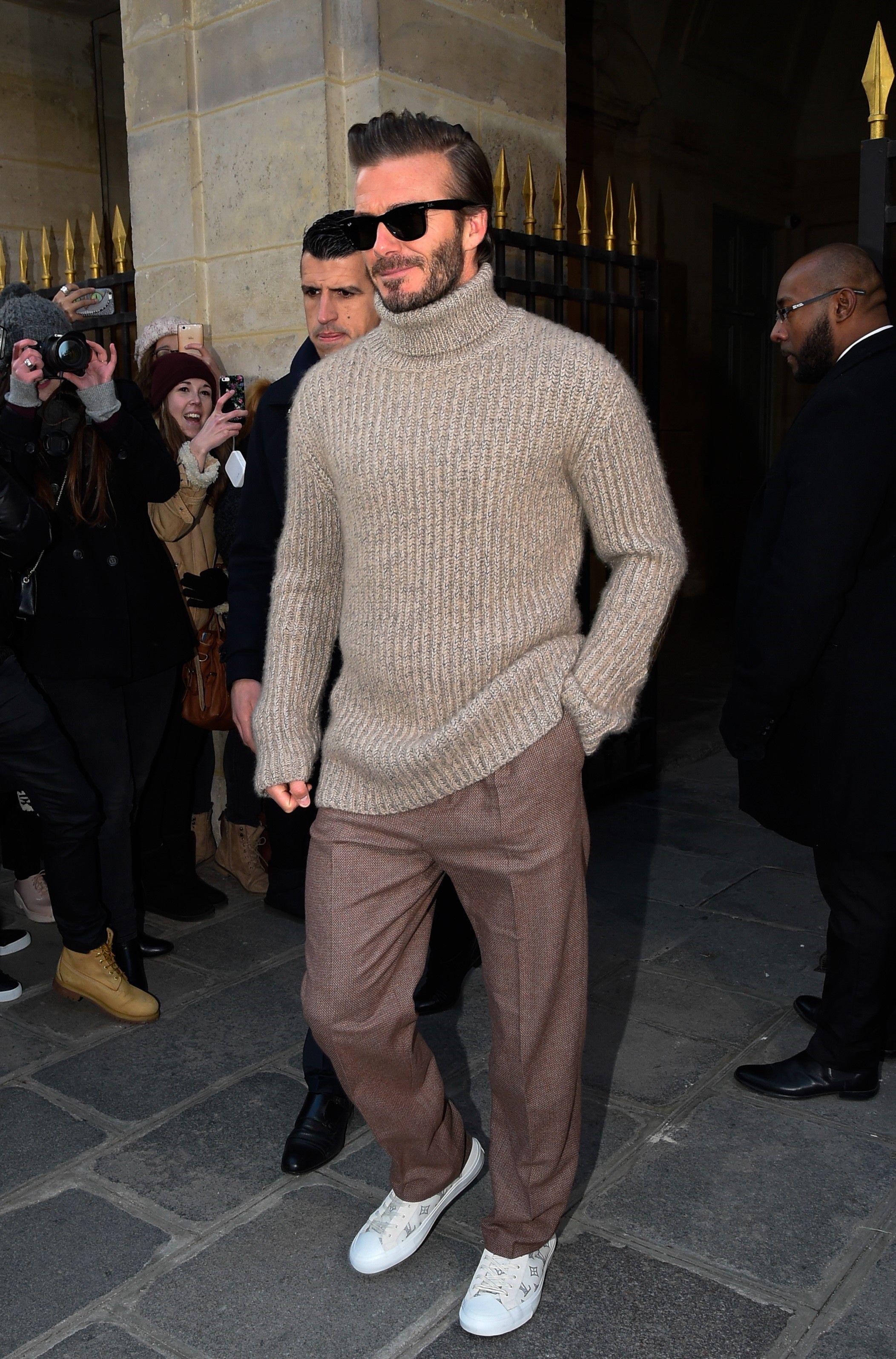 dd73e9dcaf3e David Beckham wearing Ray-Ban Original Wayfarer Acetate Sunglasses
