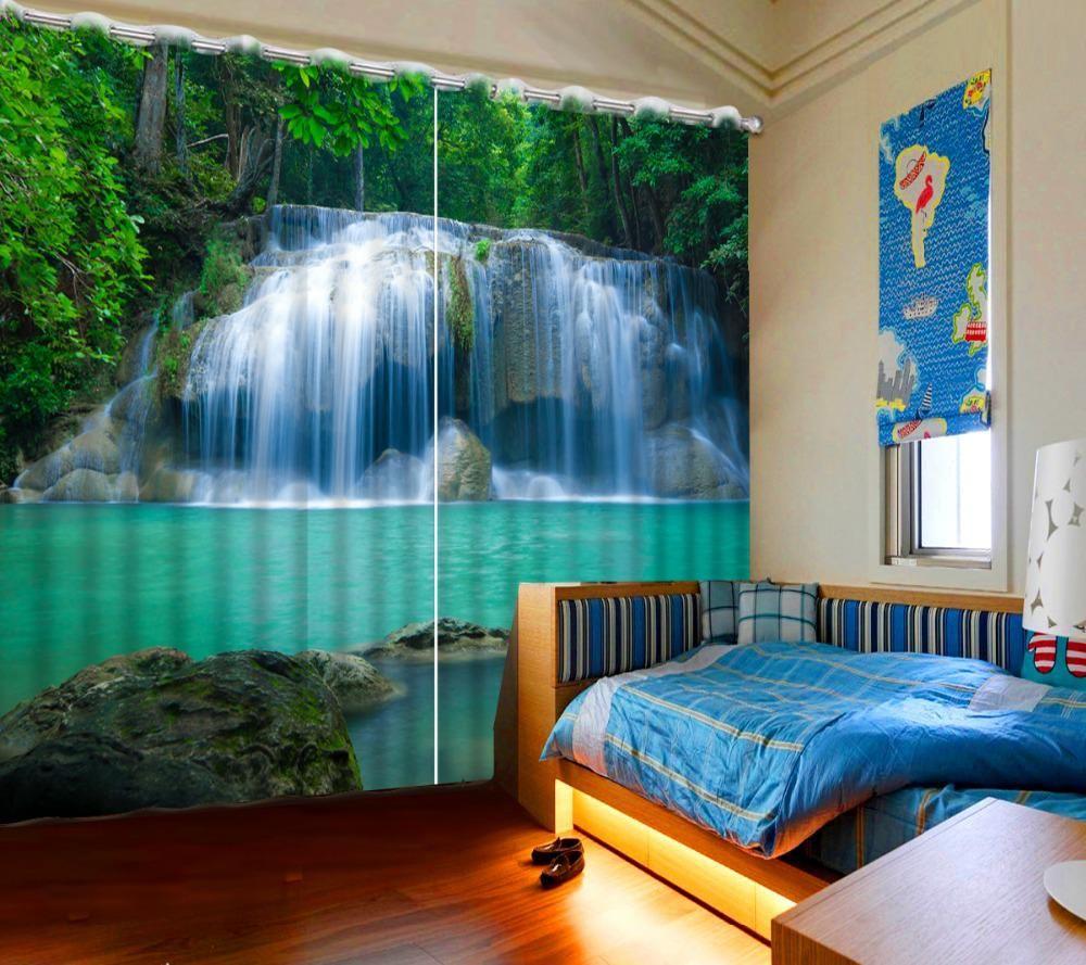 Luxury European Modern 3d curtains bedroom blackout