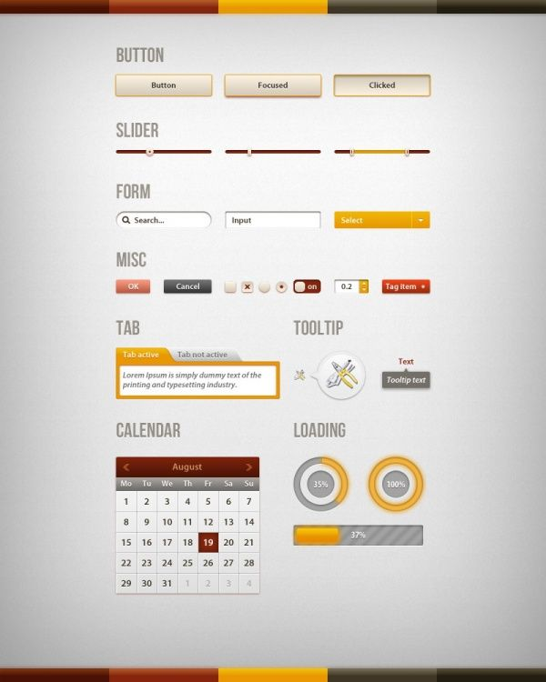 Web UI design PSD template | Guideline&UI Kit | Pinterest | Web ui ...