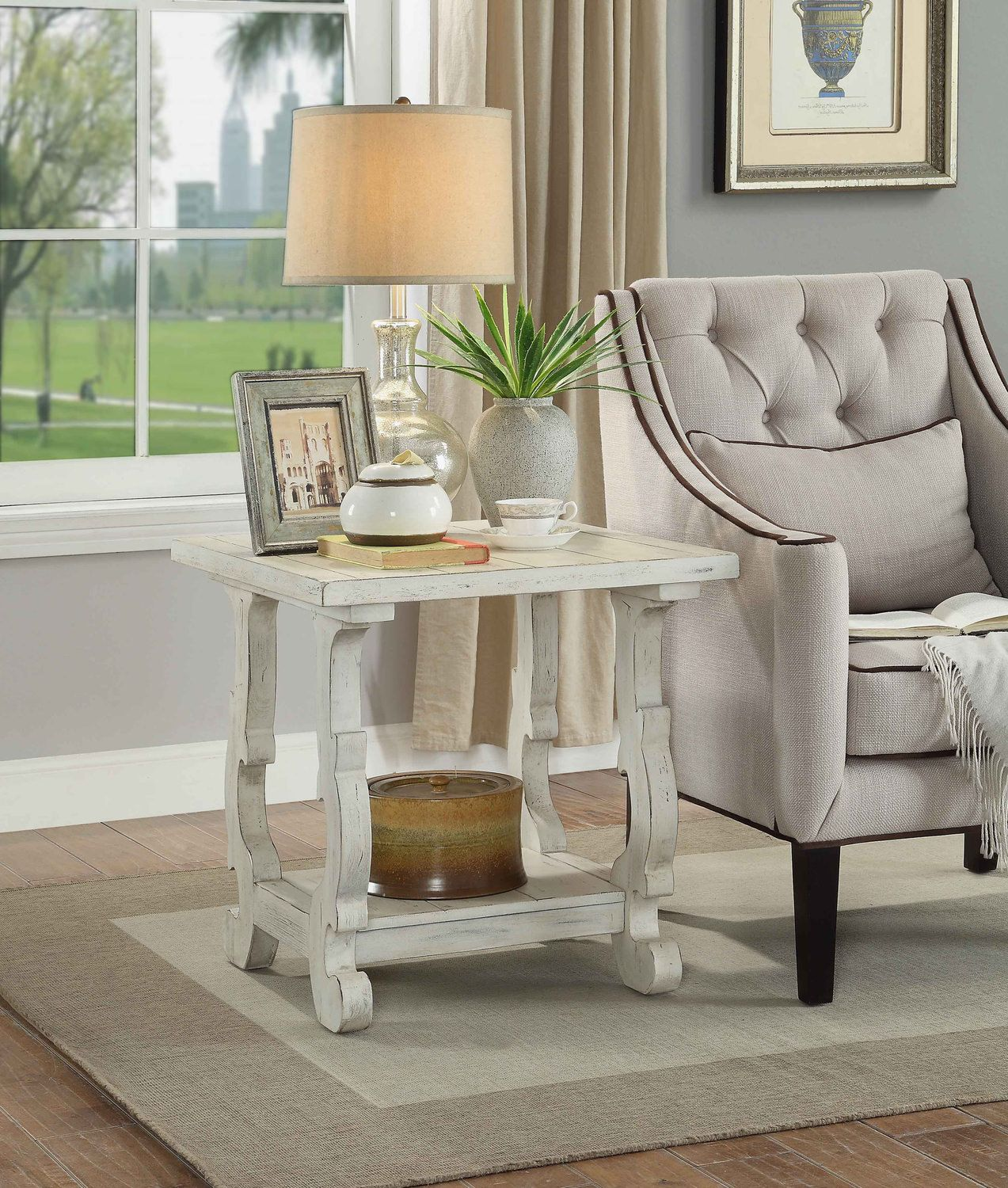 Klein End Table Dock86 Living Room End Table Decor Table Lamps Living Room Living Room End Tables Decorating end tables without lamps