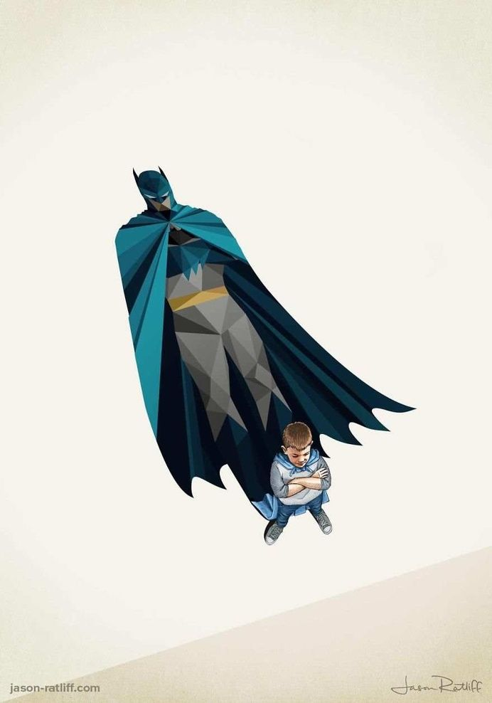Children's Superheroes Shadows by Jason Ratliff in Illustrations