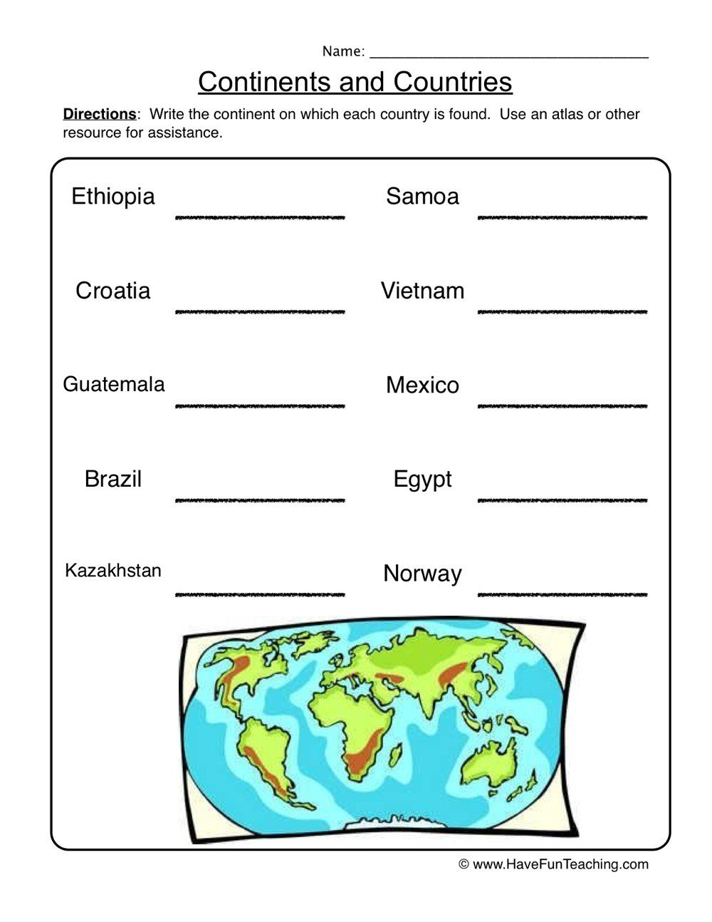 Worksheets Have Fun Teaching Geography Worksheets Social Studies Worksheets Have Fun Teaching