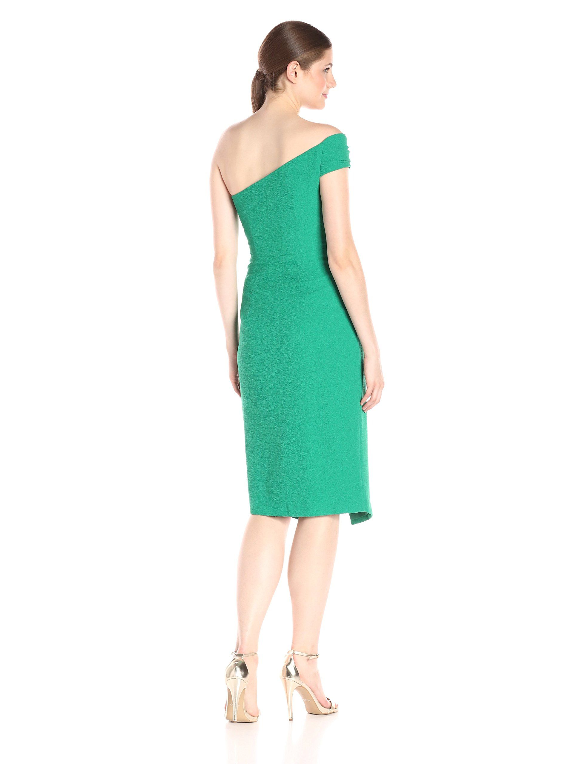 39518cd3059 Black Halo Womens Cary One Shoulder Sheath Dress Green Cove 12   You can  find more details by visiting the image link. (This is an affiliate link)    ...