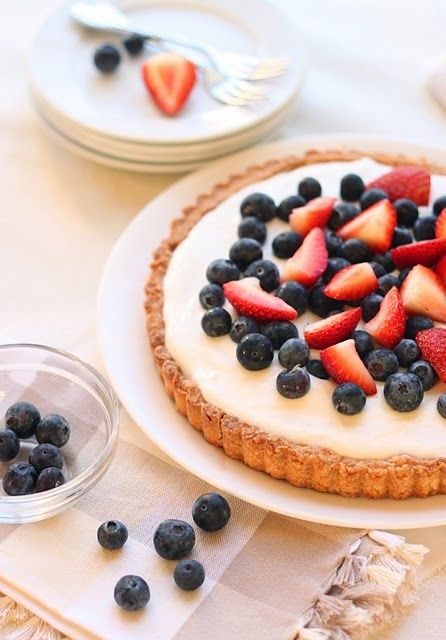 Red, White, and Blueberry Tart