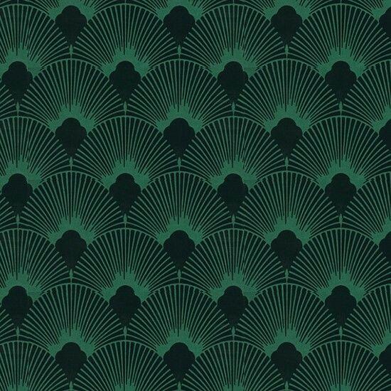 Wallpaper Nails two art deco traits, jewel tones and fan pattern. I ...