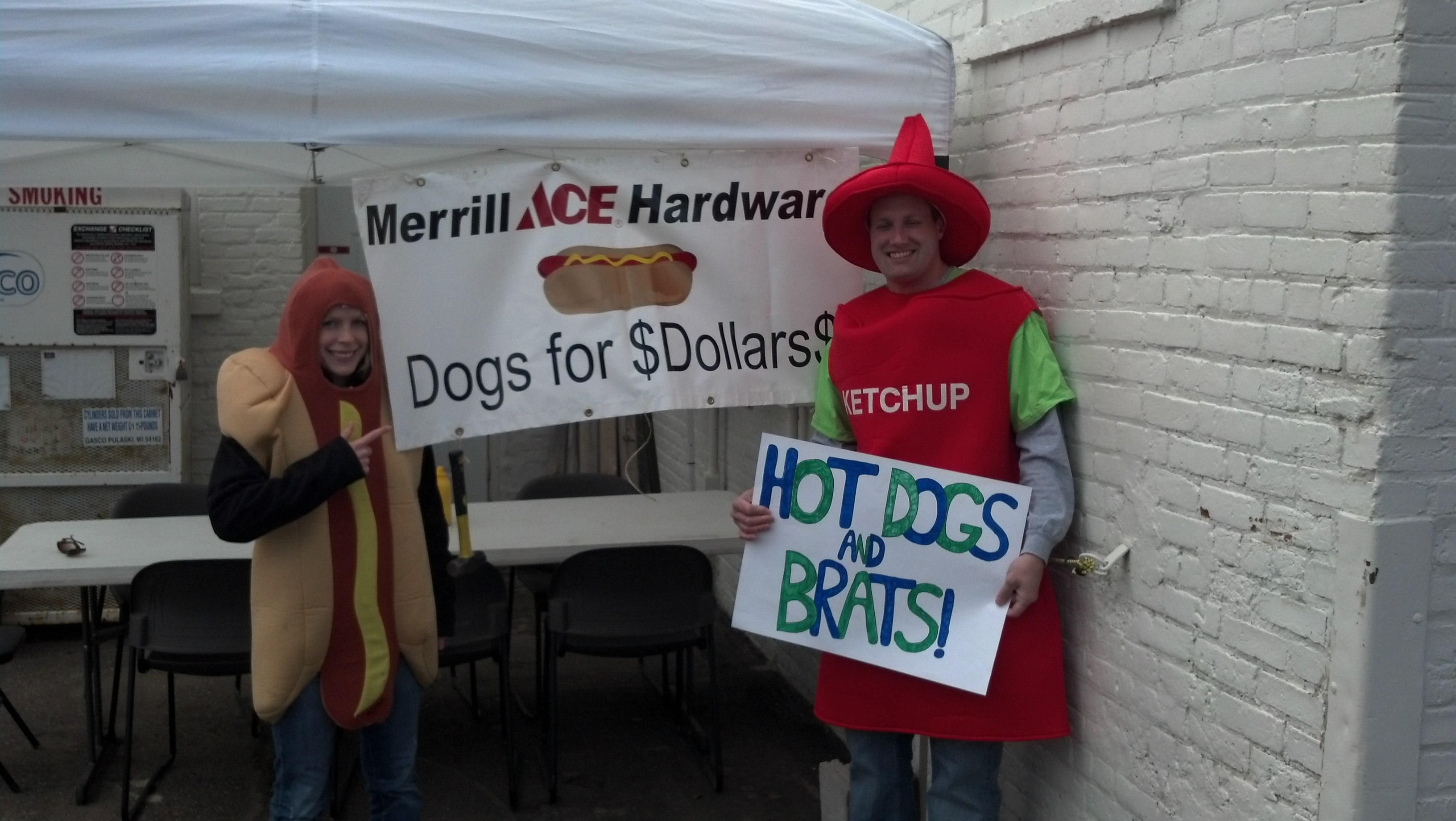 habitat for humanity was selling dogs on Saturday as a fund raiser. Call if you and your organization would like a weekend. We give you the tables, the grill and the gas. You provide the dogs (and whatever else).