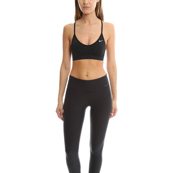 776f766ab5 Nike V Neck Mesh Back Bra ( 45) ❤ liked on Polyvore featuring activewear