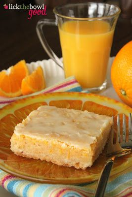 Sunny Citrus Bars. (Orange-lemon bars) No need for glaze- try dusted with powdered sugar