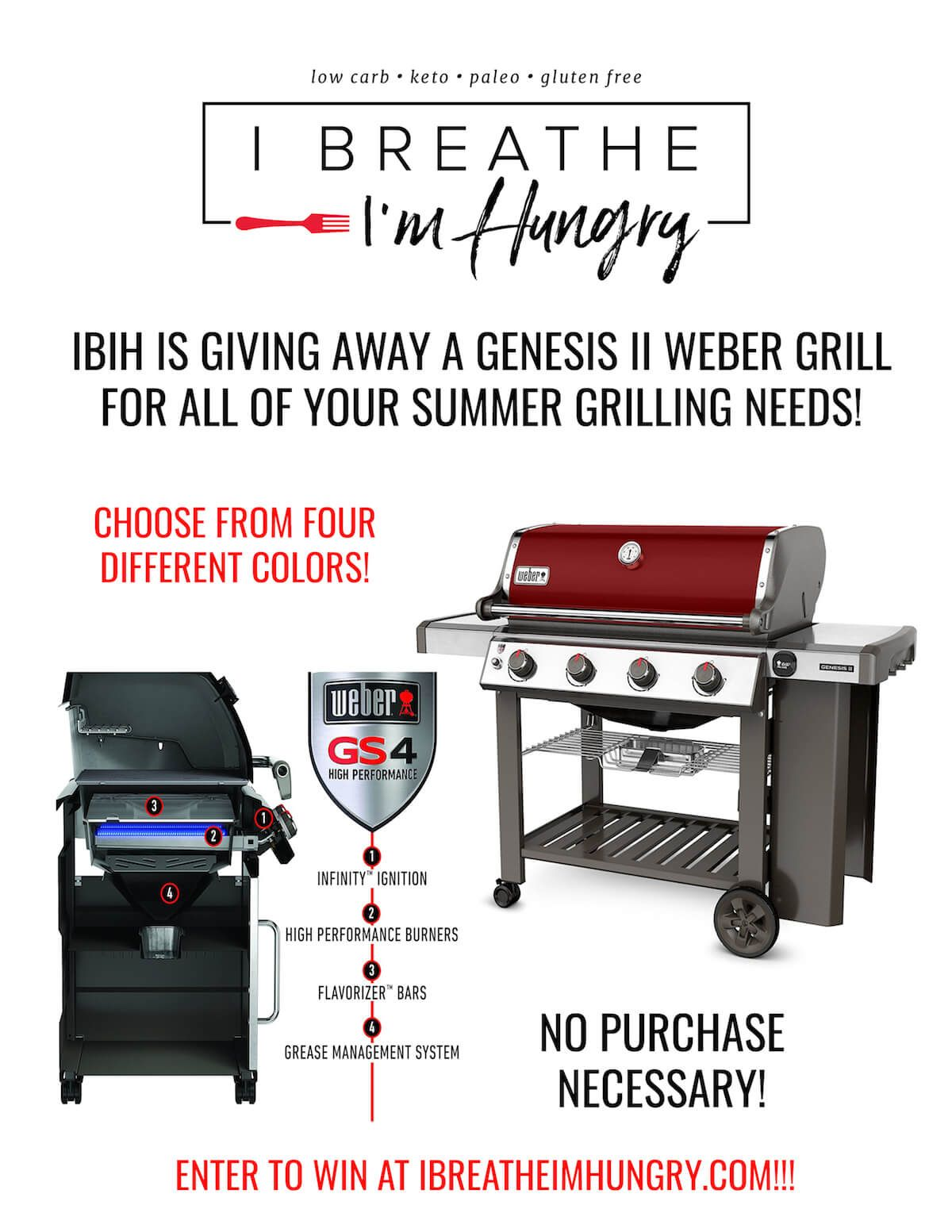 Weber Genesis Ii Grill Giveaway I Breathe I M Hungry Grilling Summer Grilling Hungry