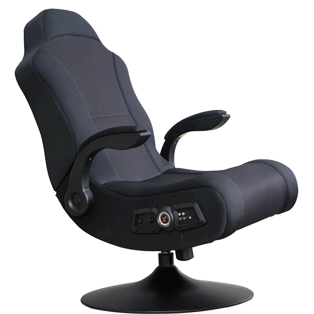 X Box Play Station Video Audio TV Gaming Ergonomic Pedestal Swivel Chair  New #XRocker #