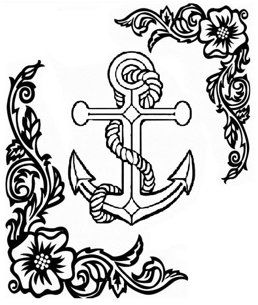 anchor coloring page more - Anchor Coloring Page