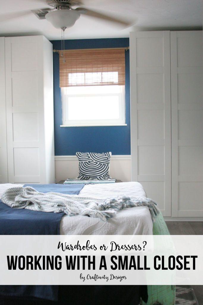 Wardrobe vs Dresser? The BEST Small Closet Solutions! | No ...