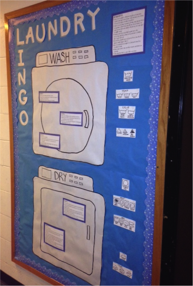 Laundry Lingo Bulletin Board Steps For Washing And Drying