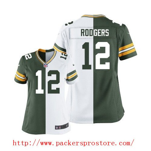 low priced 6bdd7 dacaf Nike NFL 12 Green Bay Packers Aaron Rodgers Two Tone Elite ...