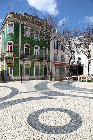 Winter street scene in Lagos, Portugal