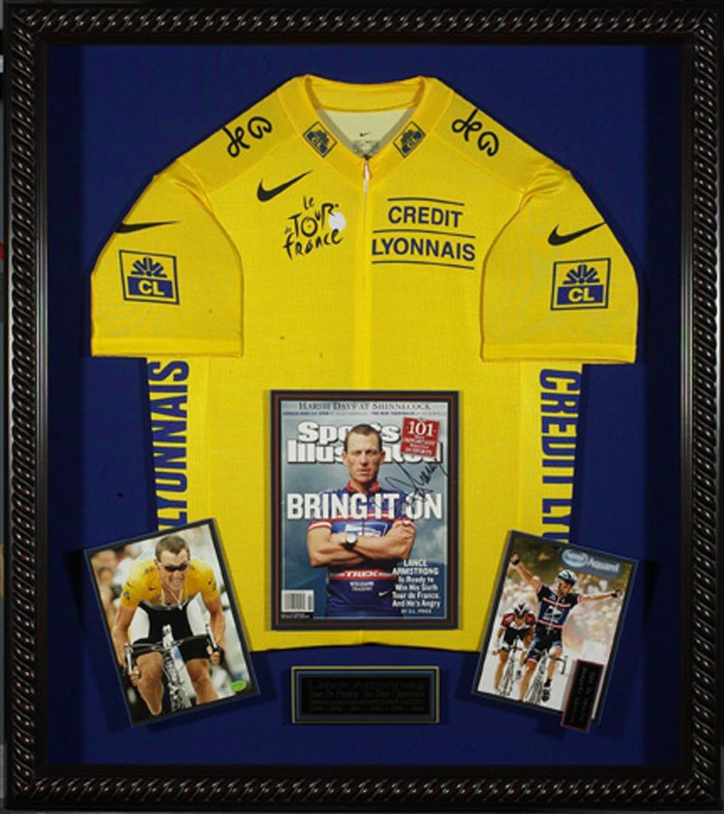 Lance Armstrong Autographed Sports Illustrated Framed