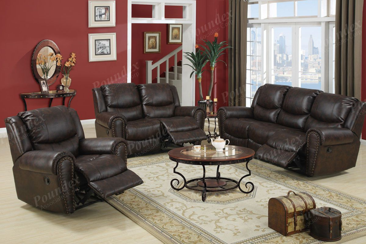 Motion Sofa Loveseat And Chair Quality Living Room Furniture Leather Living Room Set Living Room Sets