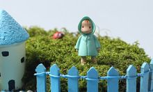 1Pcs Totoro little Mei in raincoat miniatures fairy garden gnome moss terrarium decor crafts bonsai home decor for DIY(China (Mainland))