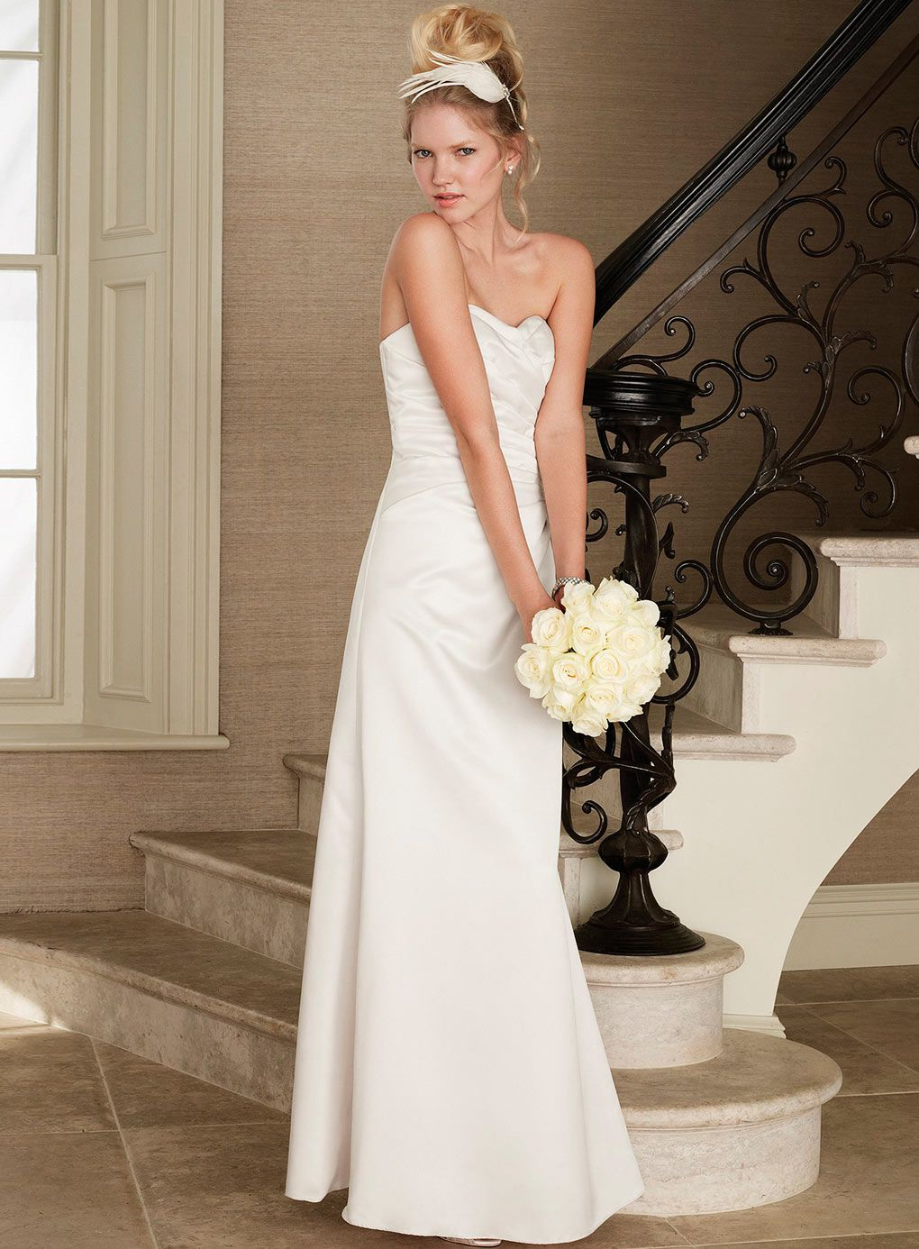 Girls wedding dress  Wedding Dress Violetta Ivory Satin Bridal Dress  Minimal classic