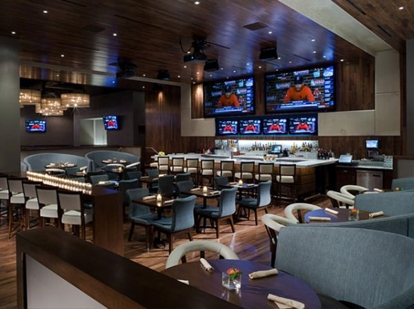 Modern restaurant design in sport lounge bar ideas by for Ideas for lounges modern
