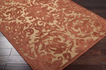 Area Rug 3x5 Rectangle Indoor Outdoor Rust Natural Color Surya Portera From Rugpal