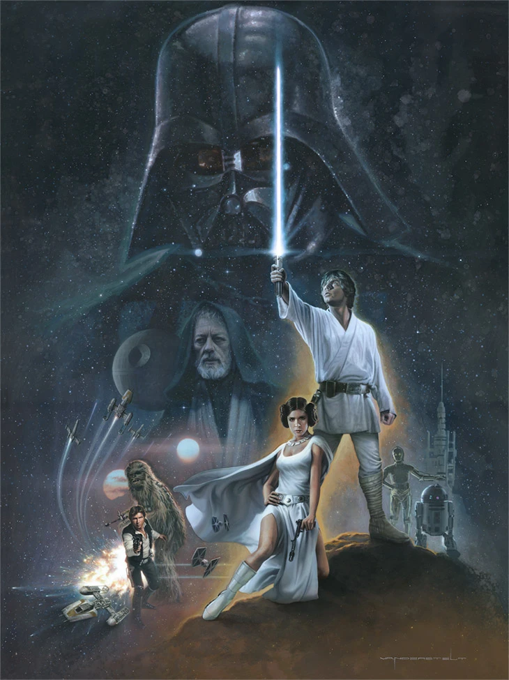 The Hopeful By Jerry Vanderstelt Star Wars Acme Archives Direct In 2020 Star Wars Pictures Star Wars Artwork Star Wars Poster