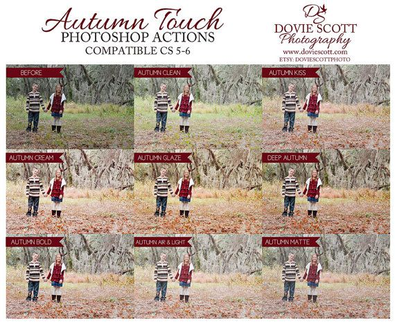 Autumn Photoshop Actions by DovieScottPhoto, $12.59