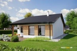 projekt radového domu na úzky pozemok