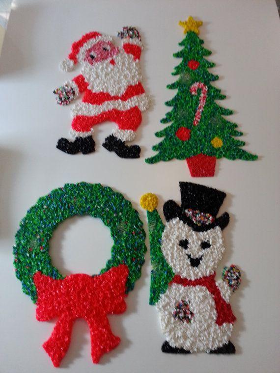 Vintage Retro Melted Plastic Popcorn By Retrospectiveresale 25 00 Old Fashioned Christmas Popcorn Decorations Vintage Christmas