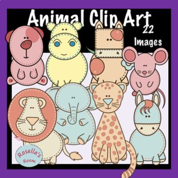 This set of clip art animals has everything you need to create fun animal-themed resources. Included with your purchase are 22 images of different animals. All images are in PNG format and have a high resolution for printing and resizing. Please read my Terms of Use regarding personal and commercial use of my graphics.